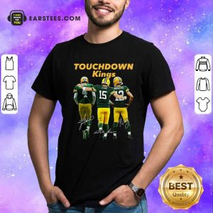 Green Bay Packers Touchdown Kings Brett Favre 4 Bart Starr 15 Aaron Rodgers 12 Signatures Shirt- Design By Earstees.com