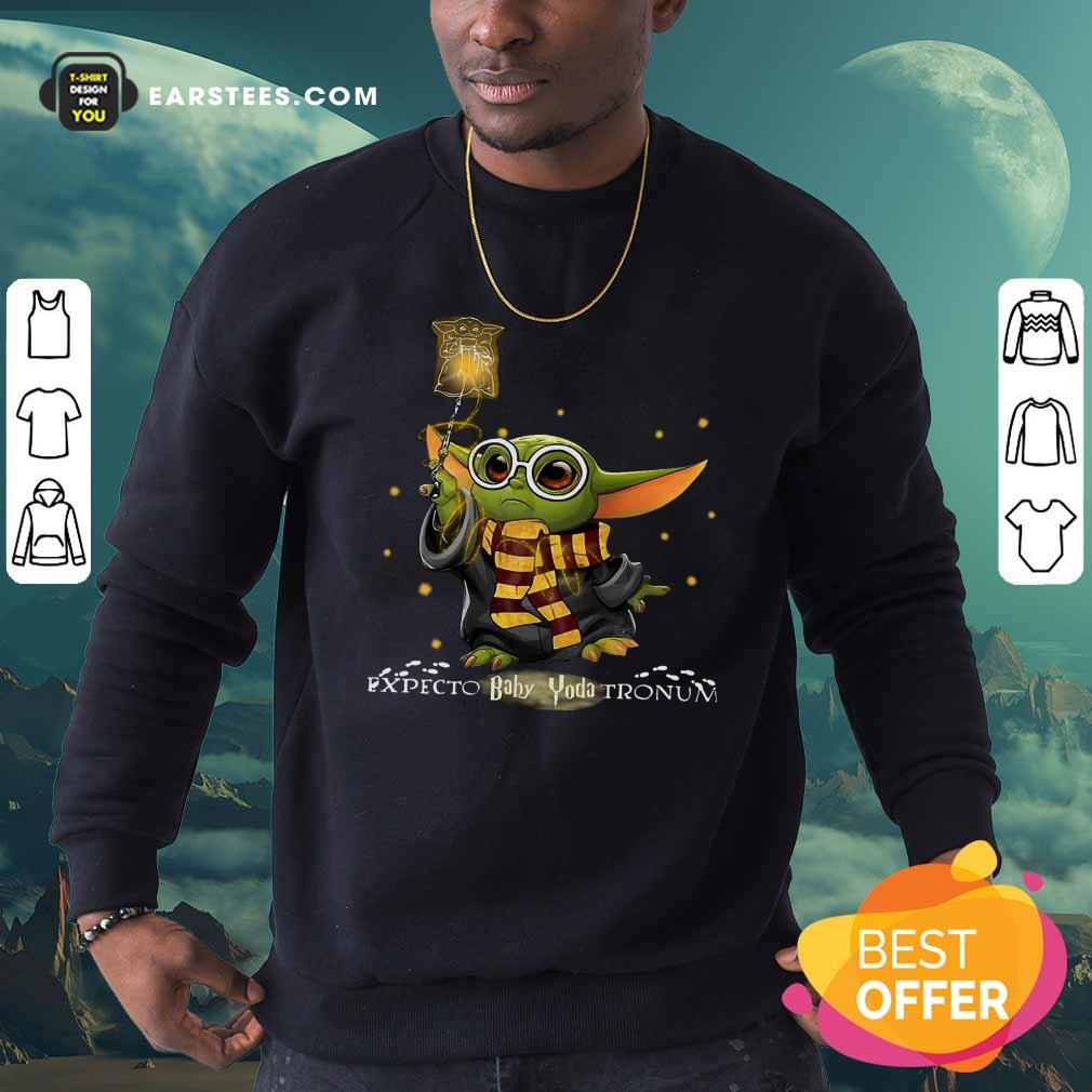 Baby Yoda Expecto Baby Yoda Tronun Harry Potter Sweatshirt - Design By Earstees.com