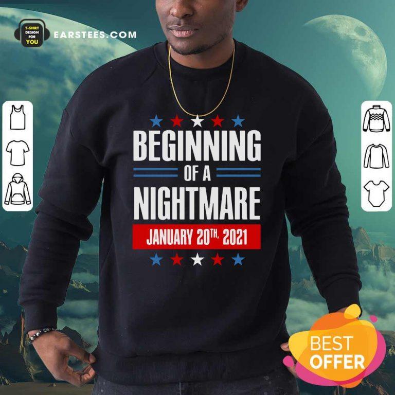 Beginning Of A Nightmare January 20 2021 Sweatshirt- Design By Earstees.com