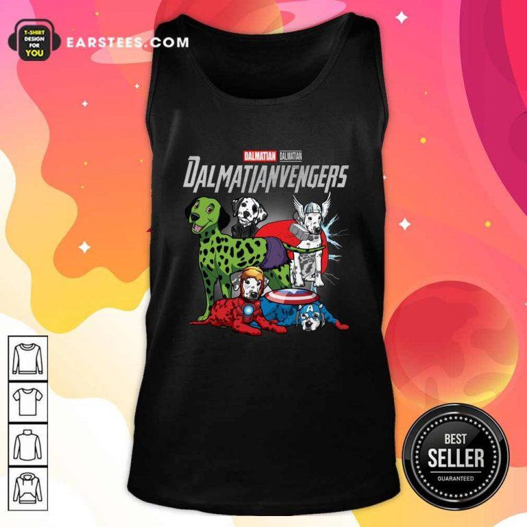 Dalmatian Marvel Avengers Dalmatianvengers Tank Top- Design By Earstees.com