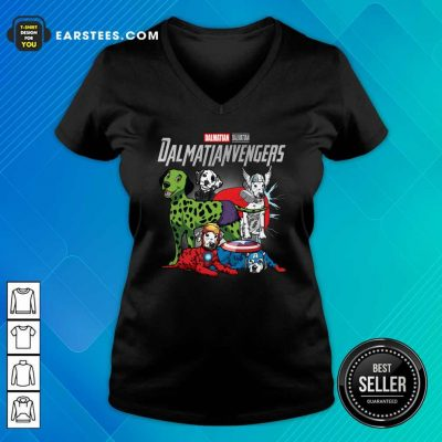 Dalmatian Marvel Avengers Dalmatianvengers V-neck- Design By Earstees.com