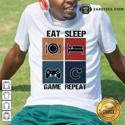 Eat Sleep Game Repeat Vintage Shirt - Design By Earstees.com