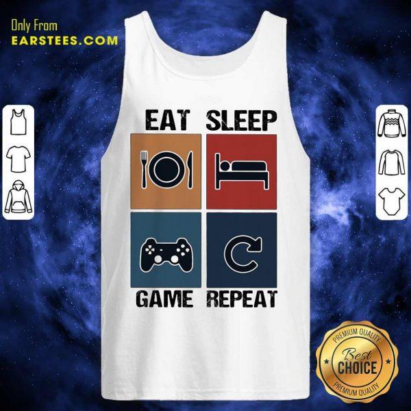 Eat Sleep Game Repeat Vintage Tank Top - Design By Earstees.com
