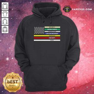 First Responder American Flag Hoodie- Design By Earstees.com
