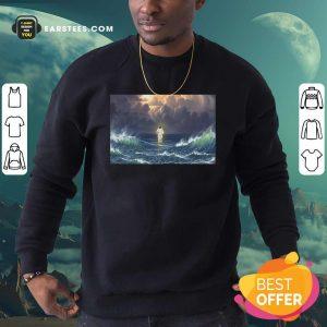 Jesus Shadow Sweatshirt - Design By Earstees.com