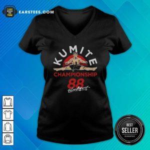 Kumite Championship 88 Bloodsport V-neck - Design By Earstees.com