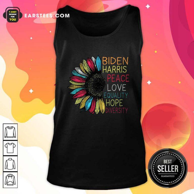 Peace Love Equality Hope Diversity Biden Harris 2020-2024 Tank Top- Design By Earstees.com