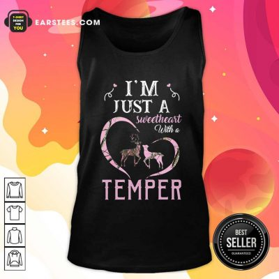 Reindeer Im Just A Sweetheart With A Temper Wallpaper Tank Top- Design By Earstees.com