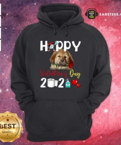 Tibetan Mastiff Happy Valentines Day With Toilet Paper 2021 Hoodie- Design By Earstees.com