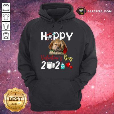 Tibetan Mastiff Happy Valentines Day With Toilet Paper 2021 Hoodie- Design By Earstees.com