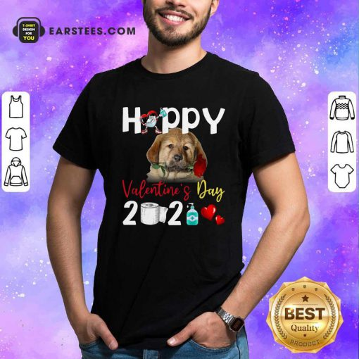 Tibetan Mastiff Happy Valentines Day With Toilet Paper 2021 Shirt- Design By Earstees.com