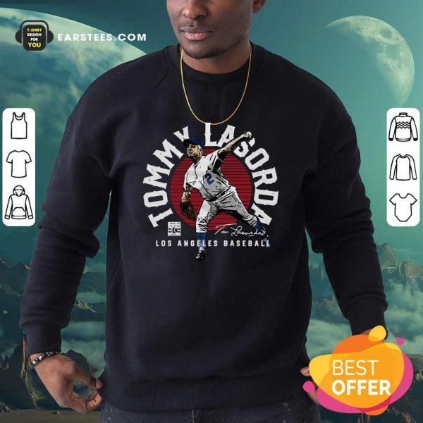Tommy Lasorda Los Angeles Baseball Signature Sweatshirt- Design By Earstees.com