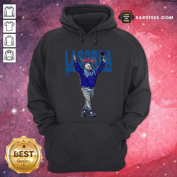 Tommy Lasorda Los Angeles Dodgers Hoodie- Design By Earstees.com