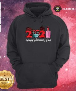 2021 Face Mask Happy Valentines Day Hoodie- Design By Earstees.com