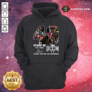49 Years Of Dom 1971 2020 Thank You For The Memories Signatures Hoodie - Design By Earstees.com
