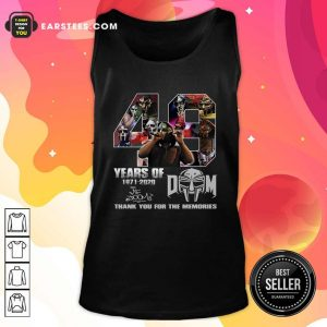 49 Years Of Dom 1971 2020 Thank You For The Memories Signatures Tank Top- Design By Earstees.com