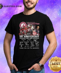 Alabama Crimson Tide 128th Anniversary 1982 2020 Signatures Thank Shirt- Design By Earstees.com