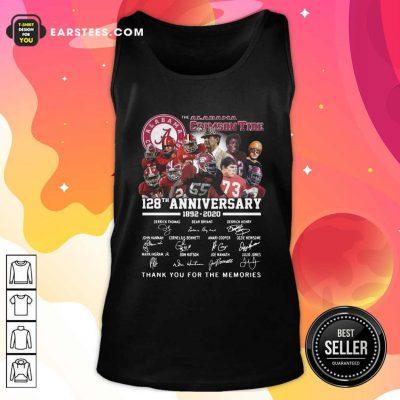 Alabama Crimson Tide 128th Anniversary 1982 2020 Signatures Thank Tank Top- Design By Earstees.com