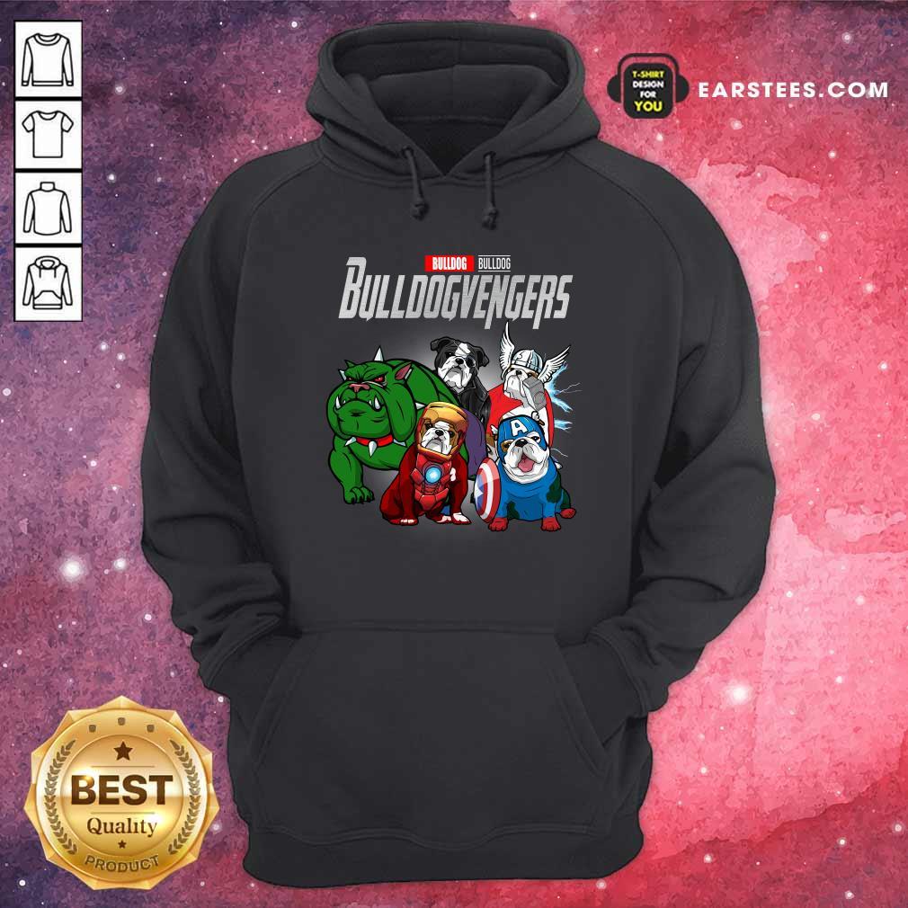 Marvel Avengers Bulldog Bullvengers Hoodie- Design By Earstees.com