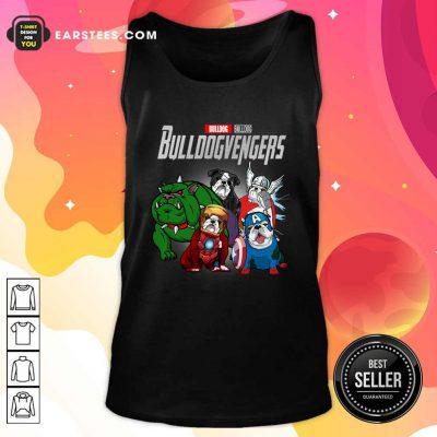 Marvel Avengers Bulldog Bullvengers Tank Top- Design By Earstees.com