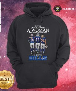 Never Underestimate A Woman Who Understands Football And Loves Bills Hoodie- Design By Earstees.com