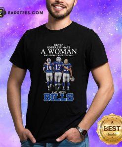 Never Underestimate A Woman Who Understands Football And Loves Bills Shirt- Design By Earstees.com