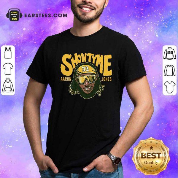 Showtyme Green Bay Aaron Jones Shirt- Design By Earstees.com