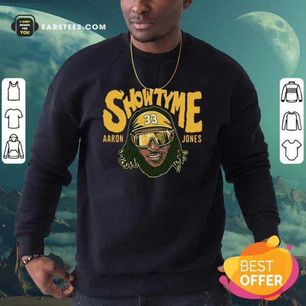 Showtyme Green Bay Aaron Jones Sweatshirt- Design By Earstees.com