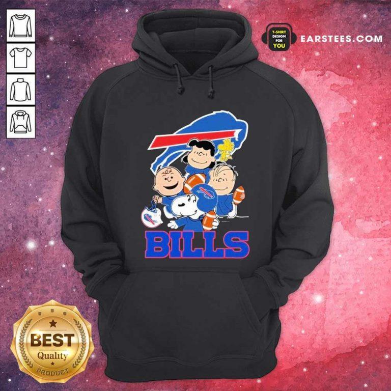 The Buffalo Bills Snoopy The Peanuts Tee Unisex Hoodie- Design By Earstees.com