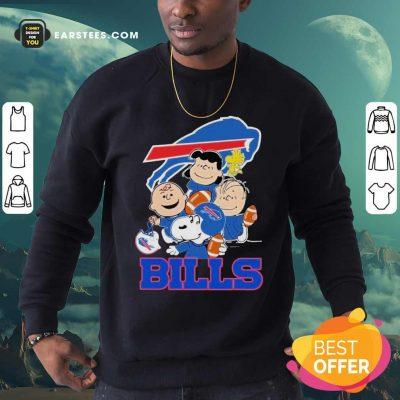 The Buffalo Bills Snoopy The Peanuts Tee Unisex Sweatshirt- Design By Earstees.com