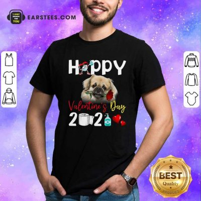 Tibetan Spaniel Happy Valentines Day With Toilet Paper 2021 Shirt- Design By Earstees.com