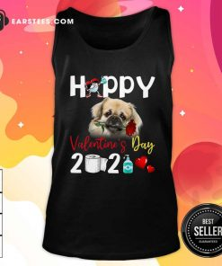 Tibetan Spaniel Happy Valentines Day With Toilet Paper 2021 Tank Top- Design By Earstees.com