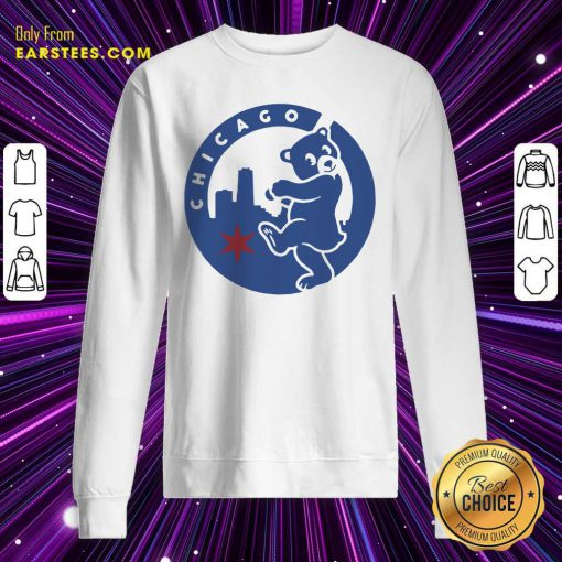 Chicago Bears Hometown Slugger Sweatshirt- Design By Earstees.com
