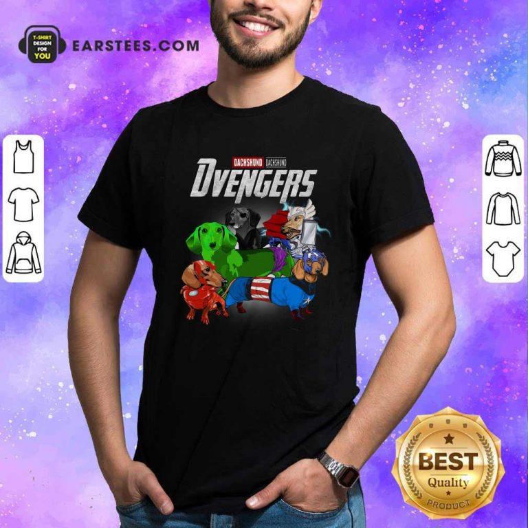 Dachshund Marvel Avengers Dvengers Shirt- Design By Earstees.com