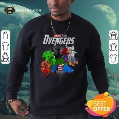 Dachshund Marvel Avengers Dvengers Sweatshirt- Design By Earstees.com