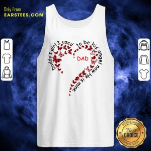 Daddys Girl I Used To Be His Angel Now Hes Mine Tank Top - Design By Earstees.com