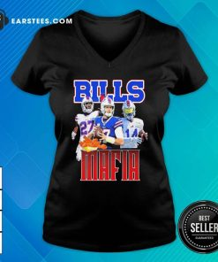 Digg Allen And Tredavious White Buffalo Bills Mafia 2021 V-neck- Design By Earstees.com