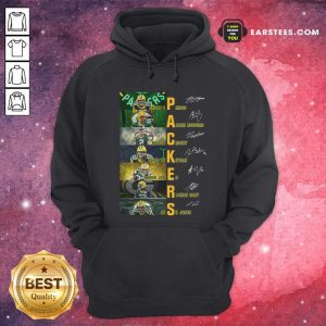 Green Bay Packers Jason Spriggs Aaron Rodgers Mason Crosby Signatures Hoodie - Design By Earstees.com