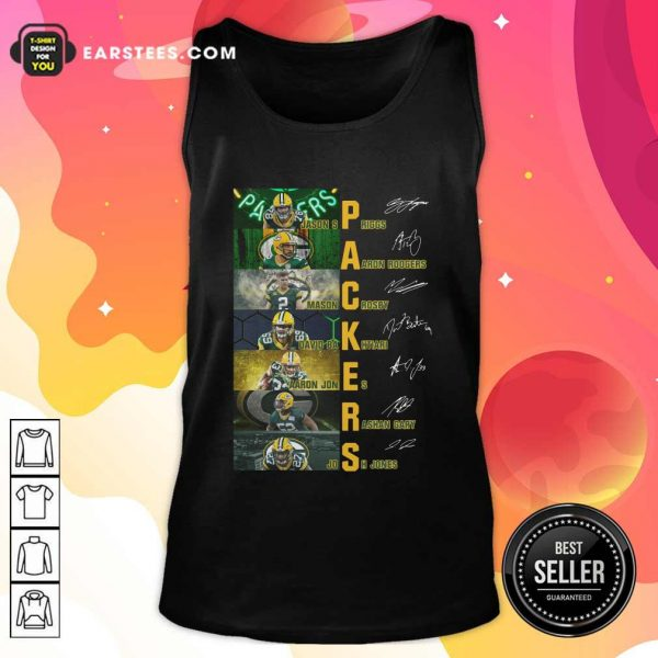 Green Bay Packers Jason Spriggs Aaron Rodgers Mason Crosby Signatures Tank Top - Design By Earstees.com