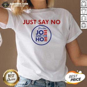 Good Just Say No Sleepy Joe And The Ho V-neck - Design By Earstees.com