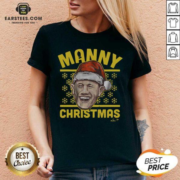 Good Manny Christmas San Diego V-neck - Design By Earstees.com