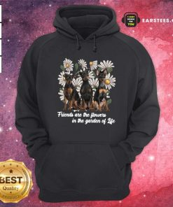 Miniature Pinscher Dogs Friends Are The Flowers In The Garden Of Life Hoodie- Design By Earstees.com