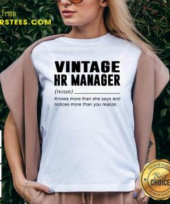 Vintage Hr Manager Noun Knows More Than She Says V-neck- Design By Earstees.com
