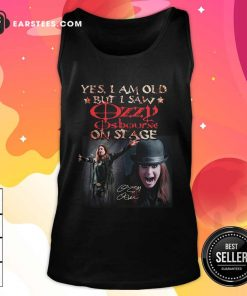 Yes I Am Old But I Saw Ozzy Osbourne On Stage Signature Tank Top- Design By Earstees.com