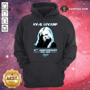 Avril Lavigne 21th Anniversary 1999 2020 Signature Hoodie- Design By Earstees.com