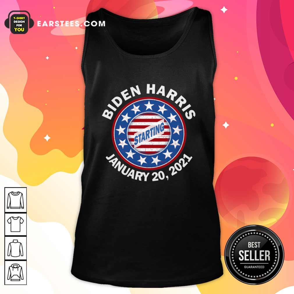 Biden Harris January Inauguration American Flag Tank Top- Design By Earstees.com