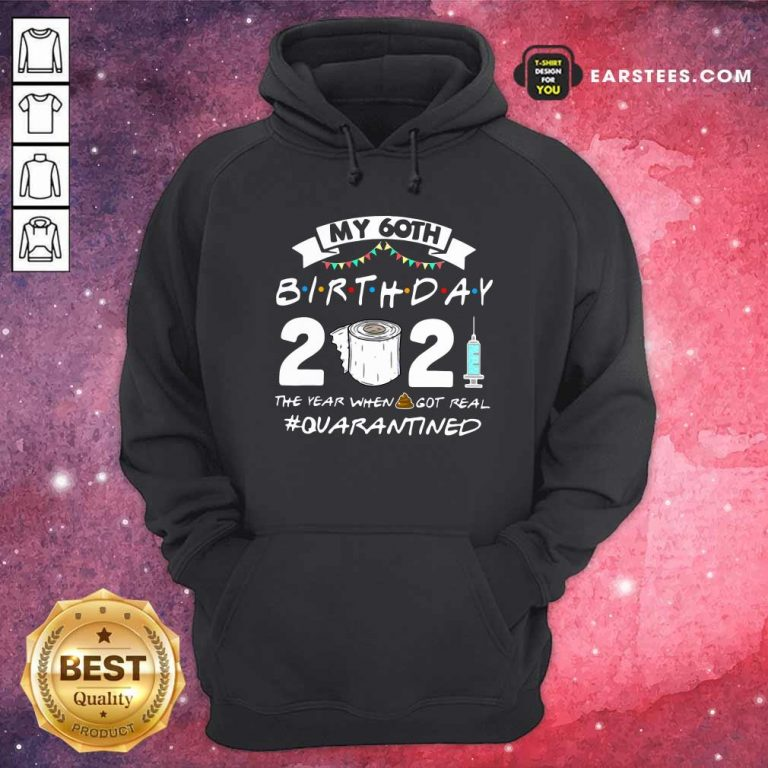 My 60th Birthday 2021 The Year When Got Real Quarantined Hoodie- Design By Earstees.com