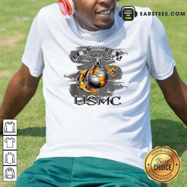 Semper Fidelis Usmc Shirt- Design By Earstees.com