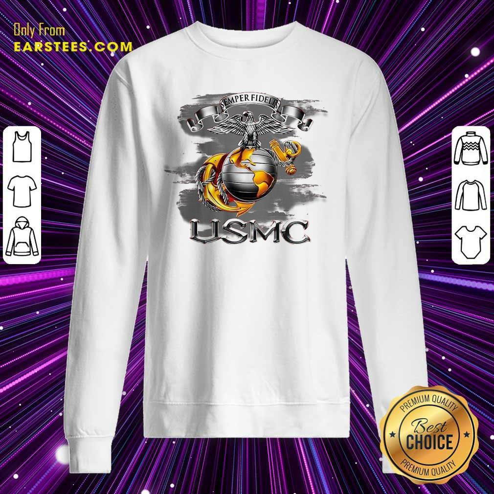 Semper Fidelis Usmc Sweatshirt- Design By Earstees.com