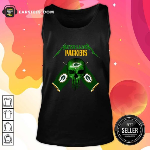 Skull Metallica Green Bay Packers Tank Top- Design By Earstees.com